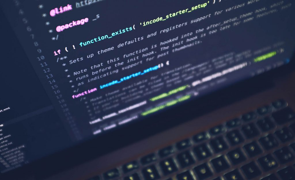 Image of code on a screen