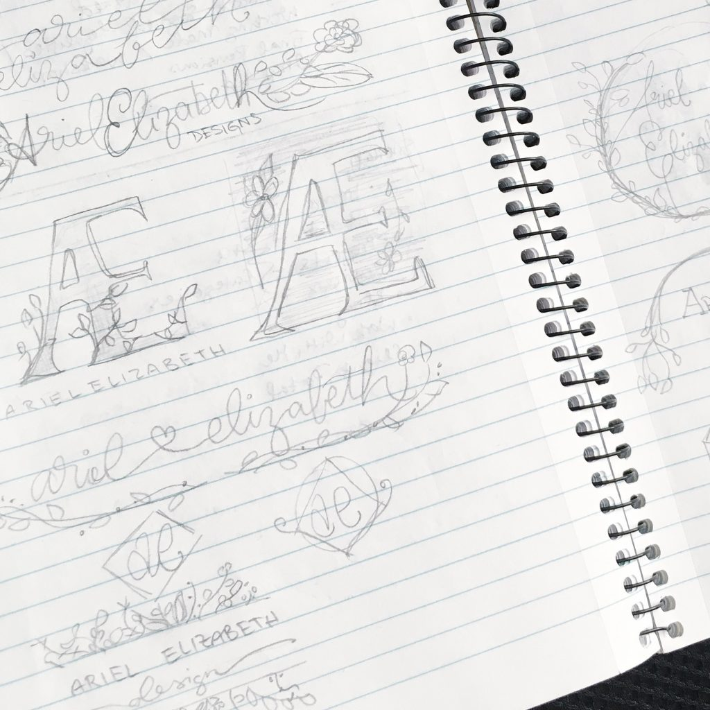 Image of Sketchbook with Ariel Elizabeth design ideas