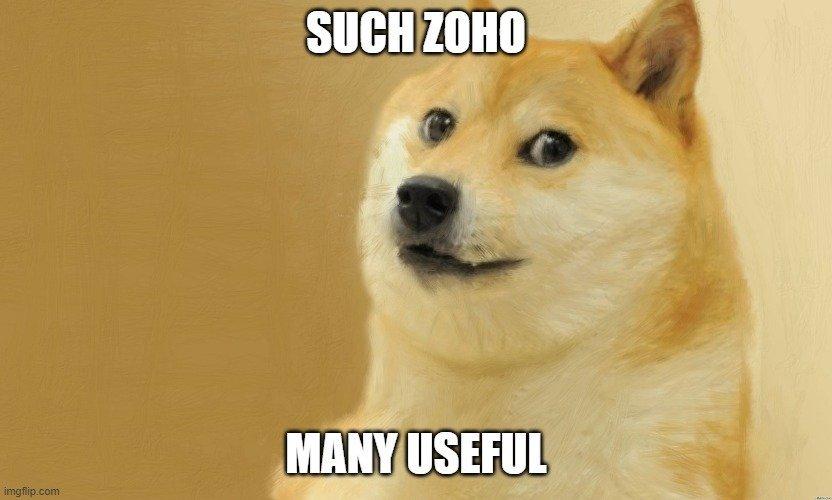 Doge Meme: Such Zoho, Many Useful