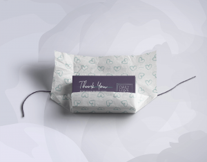Wrapping paper and thank you cards design for Daily Love Journey
