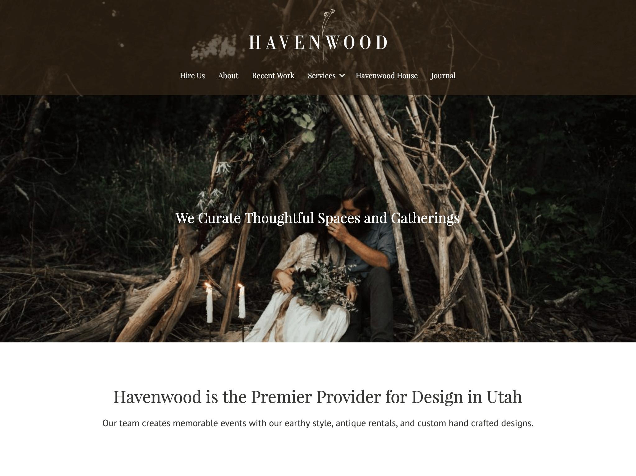 Havenwood Design Homepage Desing