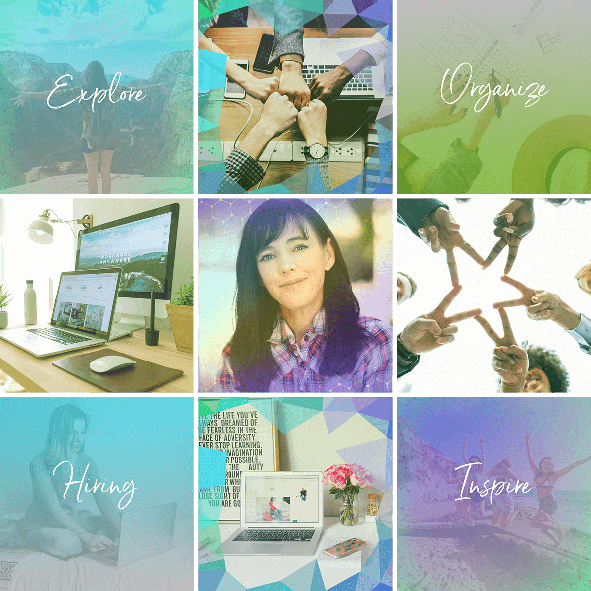 Social Media Templates and Overlays for Jana Works