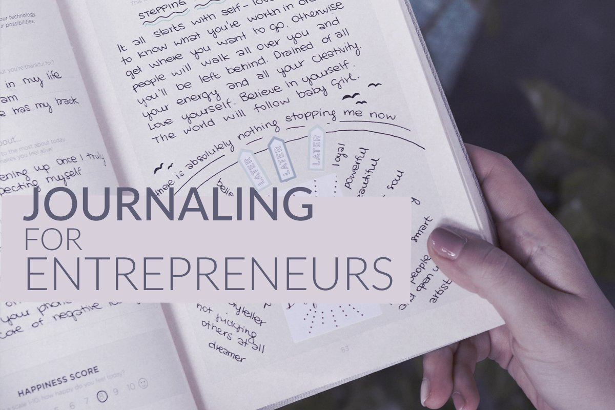 Cover of Journaling for Entrepreneurs, showing a close up of a journal.