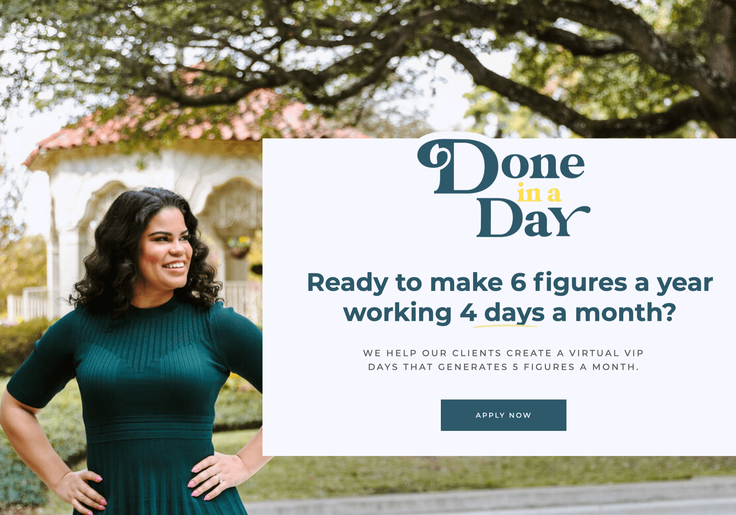 Jordan Gill and the Done in a Day Program Website