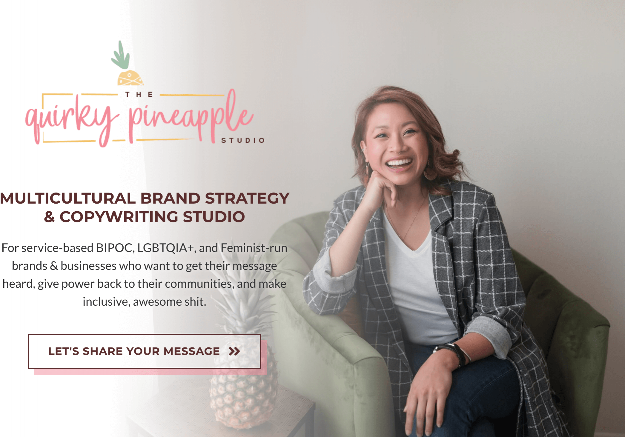 Cassandra and The Quirky Pineapple Studio Website